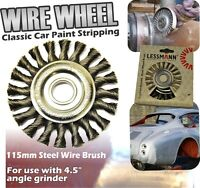 Wire Wheel 115mm Grinder Rust Weld Restoration Classic Car Paint Remover Strip