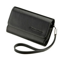 OEM Black Leather Folio Case Pouch Cover with strap BlackBerry TORCH 9800 9810