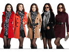 NEW Fashion 5 Color Women's Wool Double-breasted Trench Coat/Jacket