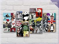 ' Banksy Collage Montage New ' Modern Graffiti Art Canvas Wall Deco