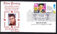 Elvis Presley #2721 FDC Music Cancel A C DOBACK PHOTO Cachet UA  (LOT 291)