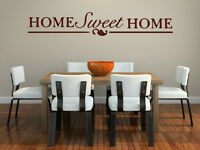 'Home Sweet Home' Large Quote Vinyl Wall Stickers High Quality 180cm x 30cm NEW