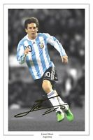 LIONEL MESSI ARGENTINA  AUTOGRAPH SIGNED PHOTO PRINT SOCCER