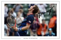 ANDY MURRAY GB GOLD TENNIS AUTOGRAPH SIGNED PRINT PHOTO