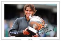 RAFA NADAL FRENCH OPEN TENNIS SIGNED AUTOGRAPH PHOTO PRINT