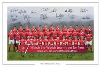 WALES RUGBY 2012 GRAND SLAM SQUAD SIGNED AUTOGRAPH PHOTO PRINT