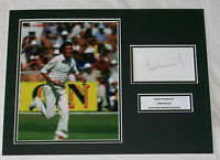 BOB WILLIS ENGLAND CRICKET HAND SIGNED AUTOGRAPH PHOTO MOUNT