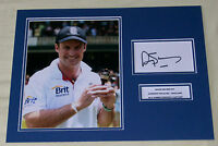 ANDREW STRAUSS ENGLAND ASHES CRICKET HAND SIGNED AUTOGRAPH PHOTO MOUNT
