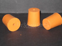 15mm Bottom Diameter Rubber Bungs with 1 Hole (4mm) Pk2 New Free UK Postage
