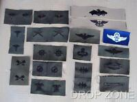 Subdued US Army Military Air Force Navy USN USAAF Insignia Badges Sew On Patches