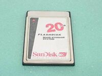 Industrial SanDisk PCMCIA 20MB Flash Memory Card ATA