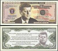 JOHN F. KENNEDY, JFK MILLION DOLLAR - LOT OF 10 BILLS