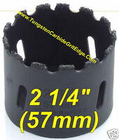 """2 1/4"""" inch Tungsten Carbide Grit Concrete Hole Saw 57mm Tile Marble Travertine"""