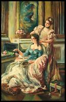 """*36""""x24"""" Oil Painting on Canvas, Ladies Hairdressing"""