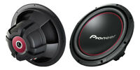 """Pioneer TS-W304R 12"""" SVC 4 ohm Component 1300w woofer"""