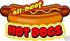 Hot Dogs All Beef Concession Decal 14