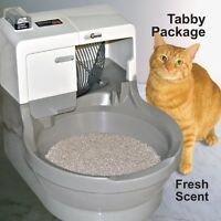 CatGenie 120 Self Cleaning Litter Box - Tabby Package