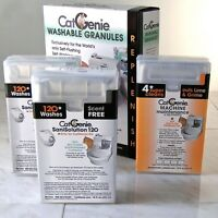 CatGenie 120 Self-Cleaning Litter Box UNscented Refill Combo Plus Maintenance