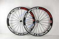 carbon fiber bicycle wheels 50/ 60mm  road bike wheelset 700c clincher