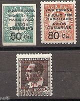 Spain Canarias Edifil # 4A/7 ** MNH Set. x 10 series en bloque