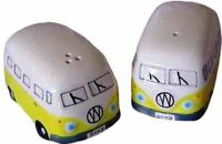 Yellow VW Volkswagen Kombi Van Ceramic Salt Pepper Pair
