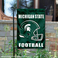 Michigan State Spartans Football Helmet Garden Flag and Yard Banner