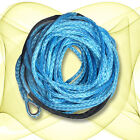 10mm x 50m BLUE DYNEEMA SK-75 SYNTHETIC WINCH ROPE CABLE UHMWPE 9.5T 4WD ATV 4WD