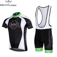 New Mens Team Cycling Jerseys Top Short Sleeve Bike Bicycle (Bib) Shorts Suit