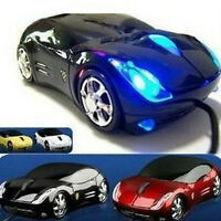 Mini Car Shape 3D Optical USB Wired Mouse Mice for Computer PC Laptop Notebook