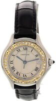 Ladies Cartier Panthere Cougar 18K Yellow Gold S/S Diamond Watch 187906