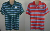 Mens AEROPOSTALE Aero A-87 Striped Jersey Polo Shirt NWT #2438