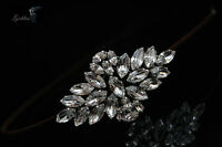 Vintage Style Bridal Side Tiara made with Swarovski Crystal Rhinestones