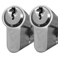 Yale Door Lock Euro Cylinder Barrel Lock Upvc Keyed Alike Pair 40/50
