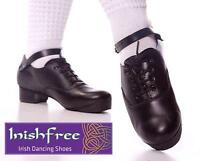 INISHFREE IRISH MADE DANCING HARD JIG SHOES FLEXI SOLE TREBLES TOP QUALITY