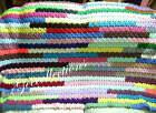 "Crochet Afghan Knit Colorful Baby Crib Stroller Blanket Throw 60"" X 40"" NEW"