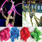 Dance Ribbon Rhythmic Gymnastics Ballet Streamer Twirling Rod worship 5 Colors