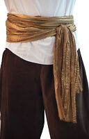 Medieval-LARP-Mens-Buccaneer-Pirate-Accessory GOLD LACE AND SATIN WAIST SASH
