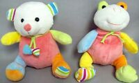 Baby Goods Plush Baby Rattles  Animals Wholesale 6Pc Lot (BR5929 ^)