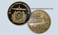 B-39 Russian Foxtrot Submarine Souvenir Challenge Coin