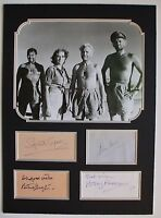 John Mills Autograph , Ice Cold in Alex + 3 , Original Hand Signed Display