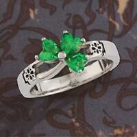 316 L Stainless Steel Love knot Shamrock Ring