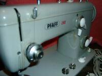 PFAFF 260 vom Mechaniker geprüft.Starke Maschine näht Segel Planen Leder Gardine