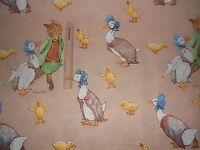 BEATRIX POTTER FOX DUCK Fabric Material by HALF METRE 100% Cotton
