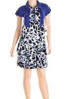 Kensie Women Black Purple Zip Neck Slash Pocket Casual Dress Medium $89