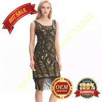 20s 1920s Strapless Dress Deco Great Gatsby Vintage Sequin Cocktail Party Gown