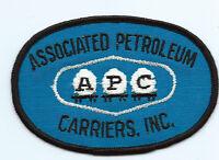 APC Associated Petroleum Carriers, Inc. driver patch 2-3/4 X 4-1/8 inch #1619