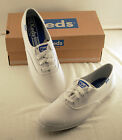 KEDS Champion White Canvas Tennis Shoes New With Box WF34000
