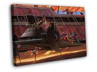 Retro Vintage Concept Artwork Star Wars Movie Painting FRAMED CANVAS WALL PRINT