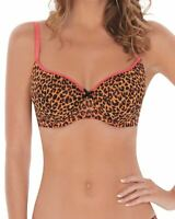 Lepel Lilly Moulded Balcony Bra 65204 Leopard Pink