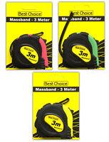 3er Set Maßband 3m | Bandmaß Rollbandmaß Rollmaßband Massband Messband Metermaß